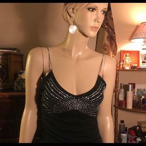 Moda International rhinestone black camisole